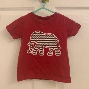 Alabama Elephant Roll Tide Burgundy T-Shirt
